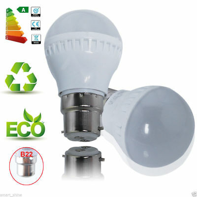 2Pack LED Bulb Lamp 3W B22 Non-Dimmable Spotlight 300lm Warm White Saving Energy