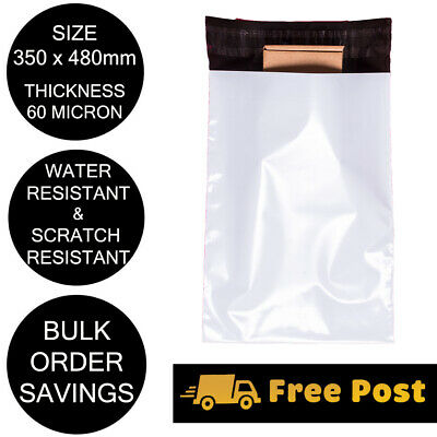 Poly Mailer 350x480mm Courier Bag Plastic Self Sealing Shipping Mailing Satchel
