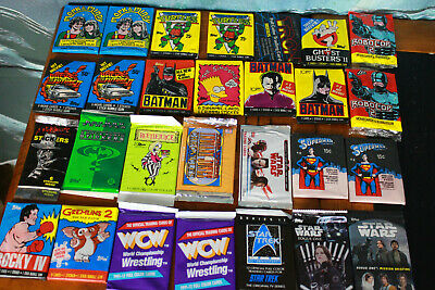 Lot of 28 sealed wax packs retro and modern A