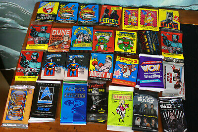 Lot of 28 sealed wax packs retro and modern B