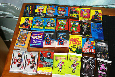 Lot of 28 sealed wax packs retro and modern C