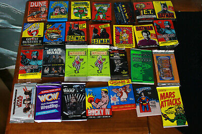 Lot of 28 sealed wax packs retro and modern D