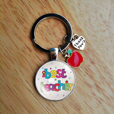 Thank you Gift for Teacher Teaching assistant, Nursery teacher - Apple Keyring