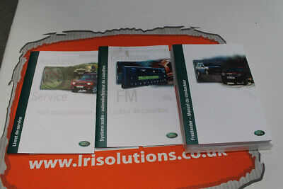VDC000080FRE FRENCH Freelander 1 owners hand book service portfolio + audio