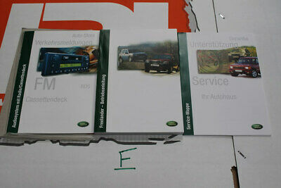 VDC000080GER GERMAN Freelander 1 Owners hand book service portfolio + audio