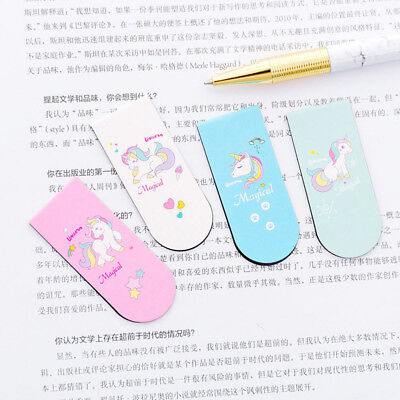 Unicorn Magnetic Bookmark Marker of Page School Office Student Reading Children