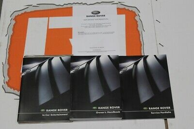 VDC500010ENX ENGLISH EXPORT Range Rover Owners hand book service book + audio