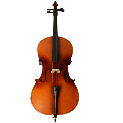 New 4/4 Size Top Professional Basswood matte cello + box + bow + rosin