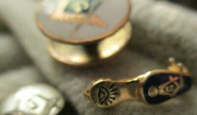 very old Masonic Widow Blue Gold Slipper and  pins lot