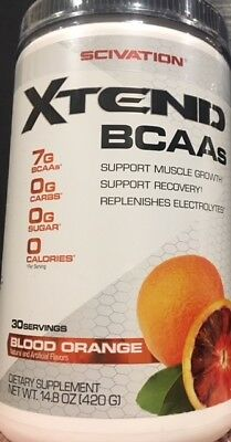 Scivation Xtend 30 Serves Extend BCAA Blood Orange Glutamine Amino Acids