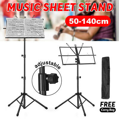 Adjustable Heavy Duty Stage Music Sheet Folding Stand Holder Mount Large Black