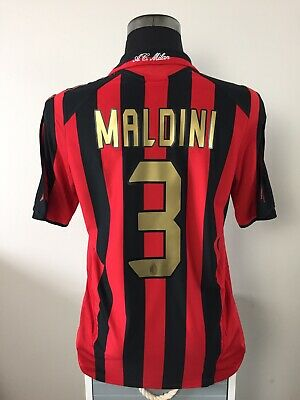 MALDINI #3 AC Milan Home Football Shirt Jersey 2005/06 (M)