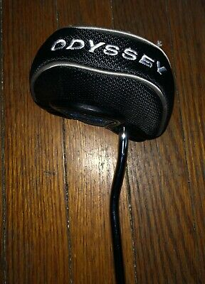 """Brand New Right Hand Odyssey White Hot Rx Vline Fang Steel 36"""" Putter With Cover"""