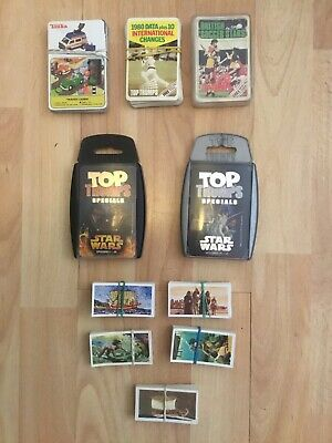Mixed Selection Of Trading Cards, Star Wars, Retro Football And Crickets.