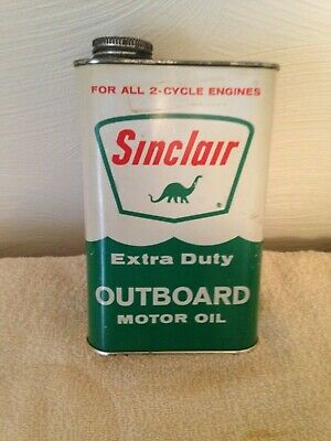 EMPTY SINCLAIR 1 quart motor oil can - $12 00 | PicClick
