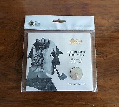 2019 Royal Mint Sherlock Holmes 50p Fifty Pence Brilliant Uncirculated Coin