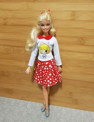New red skirt and top sleeve daily outfit clothes for your Barbie Au seller