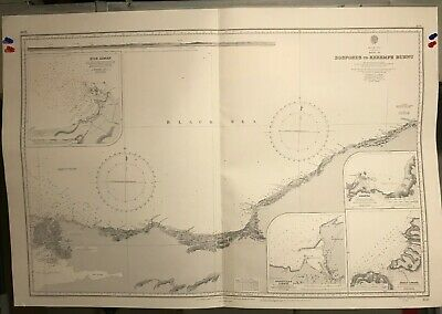 Black Sea Navigational Chart / Hydrographic Map # 2238, Bosporus, Kerempe Burnu