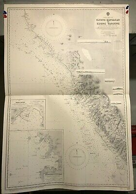 Sumatra West Coast Navigational Chart / Hydrographic Map # 709, Katiagan Tanjung