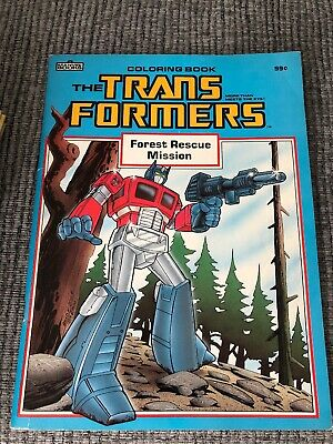 Rare Transformers Unused Colouring Book 1985