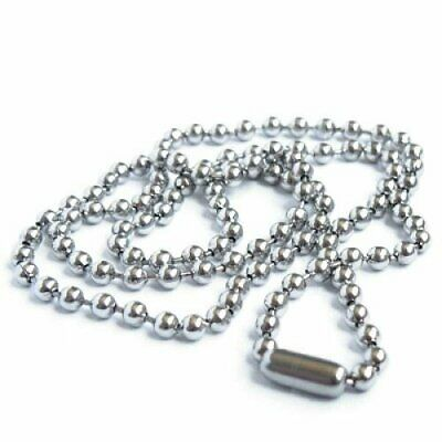 20X(Stainless Steel Bead Metal Bead Necklace Chain T7V9)