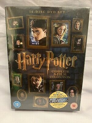 Harry Potter Complete 8 Film Collection DVD New & Sealed Contains Download Codes