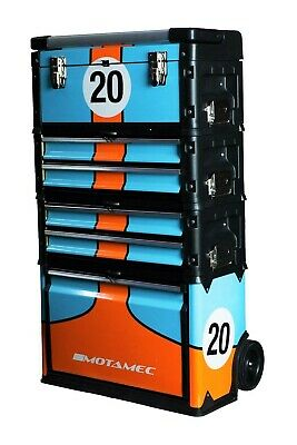 Motamec Modular Tool Box Trolley Mobile Cart Cabinet Chest C41H Gulf Racing