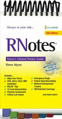 RNotes (R) Nurse's Clinical Pocket Guide by Ehren Myers 9780803669086