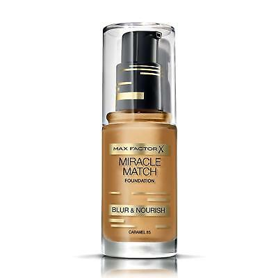 Max Factor Miracle Match Foundation | Caramel 85 | Blur & Nourish | RRP £12.99