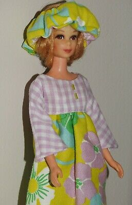 Handmade OOAK *Lovely in Lilac* Midi Outfit for Vintage Francie Barbie Doll