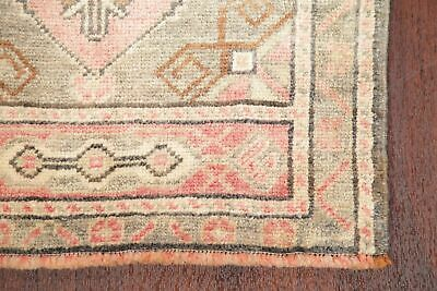Vintage 2x4 MUTED Oushak Turkish Distressed Area Rug Oriental IVORY CORAL RED