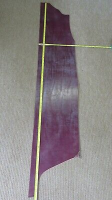 "WAXY DAMSON BRIDLE FINISH LEATHER OFF CUT 57"" X 10"" MAX. 3mm THICK  CLEARANCE"