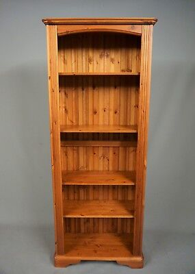"""Tall Pine Bookcase, Height Adjustable Shelves 6Ft 3"""" Tall - 30.5"""" Width"""
