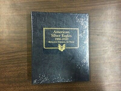 Whitman Classic Coin Album # 3395 For American Silver Eagles From 1986-2021
