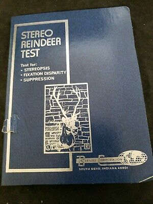 Stereo reindeer Test bernell corporation eye exam optical (d4)