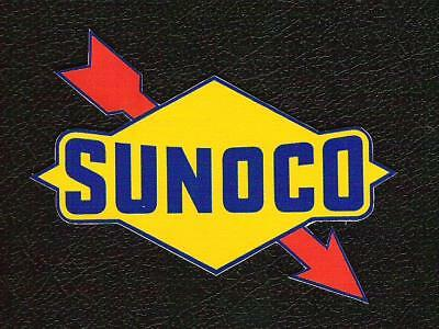 Classic Sunoco Sticker, Vintage inspired Sports Car Racing, Mark Donohue Sponsor