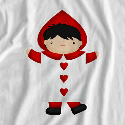 Adventure In Wonderland | Hearts Card | Iron On T-Shirt Transfer Print
