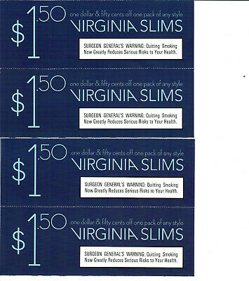 image regarding Virginia Slims Coupons Printable named $6 Great importance OF Virginia slims cigarette discount coupons!!!! (4 discount coupons