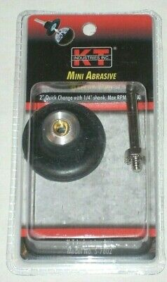 "KT Industries 5-7802 Mini Abrasive Backup Pad 2"" Quick Change 1/4"" Arbor 30K RPM"