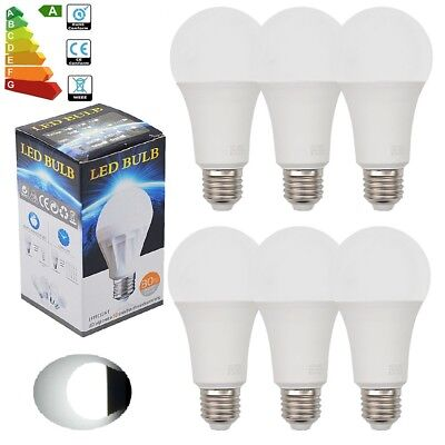 6pcs 9W E27 LED Globe Bulbs Light Spotlight Spot Lamps Downlight Day White 6500K