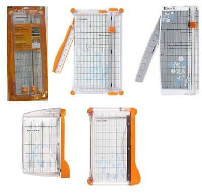 Fiskars Portable Paper Trimmer Scrapbook Guillotine Office Cutter SELECT DESIGN!