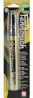Sakura 41581 Pen-Touch Gold 2mm Medium Metallic Permanent Paint Marker
