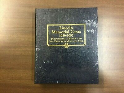 Whitman Classic Coin Album # 9141 For Lincoln Memorial Cents From 1959-2007