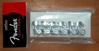 """Fender® American Deluxe Locking Chrome Tuners~""""F"""" Logo~Staggered Posts~Brand New"""