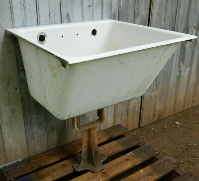 Antique Vintage American-Standard Cast Iron Utility Sink Laundry Sink 1920's #2
