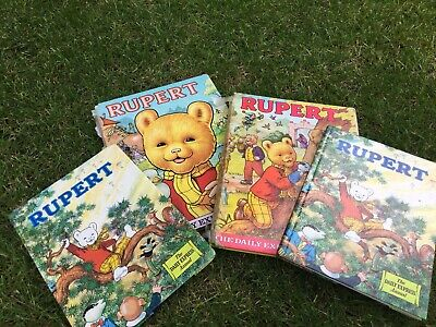 2 Vintage 1973 Rupert Bear Annual Books Plus 1980 & 1981 Rupert Kids Comic Book