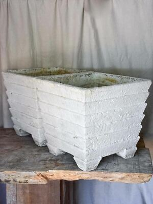 Pair of vintage Square White Garden Planters