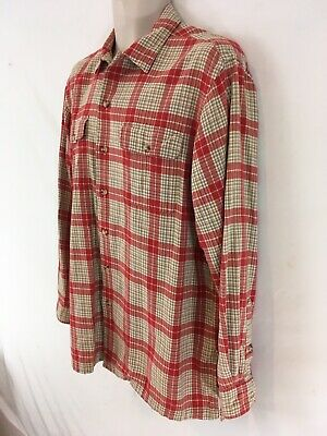 Polo Country Ralph Lauren Authentic Dry Goods Mens M Red Plaid Flannel Shirt