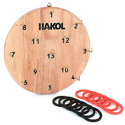 ....Ultimate Hook & Ring Toss Game Throwing Rings (lternative to Throwing Darts)