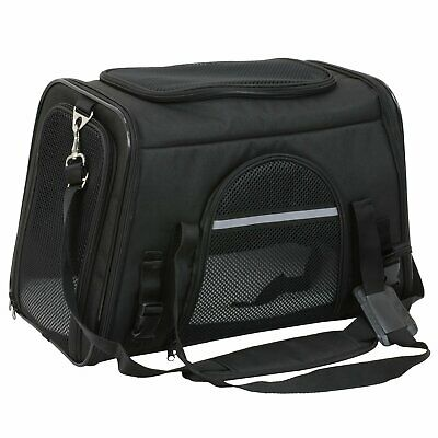 Pet Carrier Airline Approved Soft Pet Tote/Bag Small Animal Transport-Black-SALE